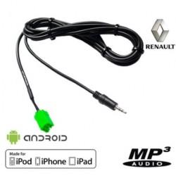 Cable Auxiliaire MP3 pour autoradios d'origine Renault Update List