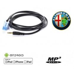 Cable auxiliaire MP3 pour autoradio ALFA ROMEO 147 DE 2002 PHASE 1