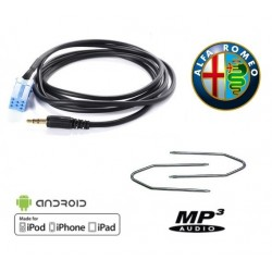 Cable auxiliaire MP3 pour autoradio ALFA ROMEO 147 DE 2002 PHASE 1 + cles demontage