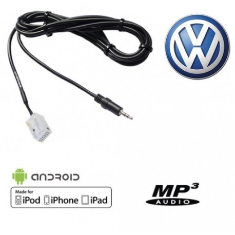 Cable Auxiliaire MP3 pour autoradio Volkswagen RCD210 RCD310 RNS310 RNS510 MFD3
