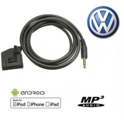 Cable Auxiliaire MP3 Autoradio VW GOLF 5 PASSAT TOURAN MFD2 RNS RNS2