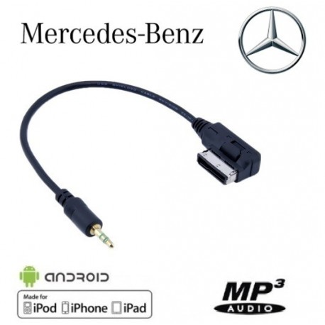 Cable Auxiliaire MP3 3,5mm pour véhicule Mercedes Benz