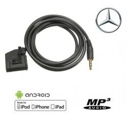Cable Auxiliaire MP3 pour autoradio Mercedes 18Pin