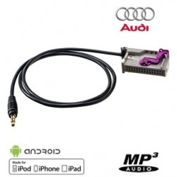 Cable Auxiliaire pour Autoradio GPS Audi RNS-E Navigation Plus