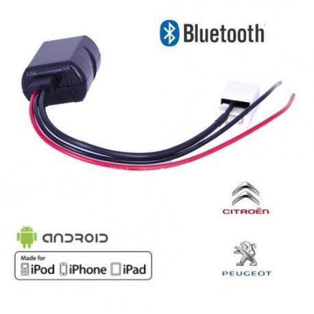 Cable Bluetooth Auxiliaire MP3 pour autoradio peugeot Citroen