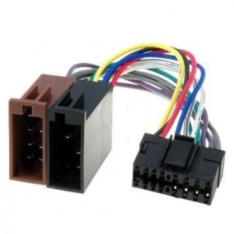 Cable Faisceau ISO pour autoradio JVC16 pins 12mm*29mm
