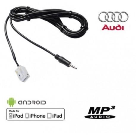 CABLE AUXILIAIRE COMPATIBLE AUTORADIO AUDI 12 PIN MP3 A3 A4 TT R8