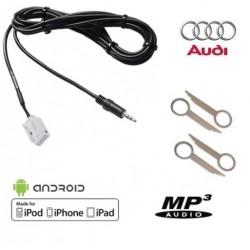Cable MP3 Auxiliaire MP3 autoradios d'origine Audi A3 A4 TT+ Clés