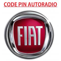 Recuperation Deblocage Code PIN Autoradio Fiat