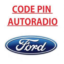 Recuperation Deblocage Code pin pour autoradio Ford focus