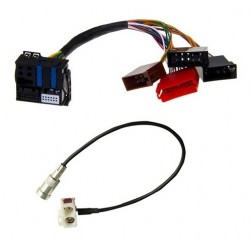 Cable Adaptateur pour Autoradio Audi A3 A4 A6 TT ISO vers RNS E + Fakra